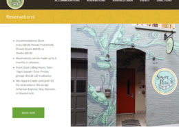 Sweet Peas Hostel - Web Development